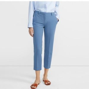 Theory Treeca Pant In Stretch Knit In Chambray NWT